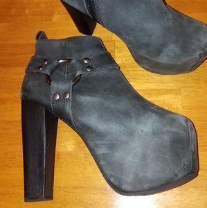 Jeffrey Campbell platform heeled booties